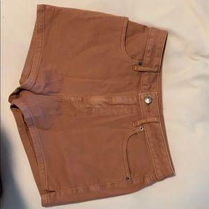 High-waisted burnt orange shorts